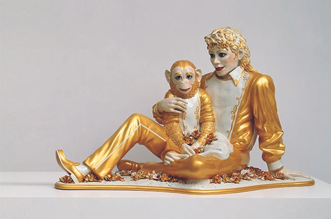 Jeff Koons, Michael Jackson and Bubbles, 1998