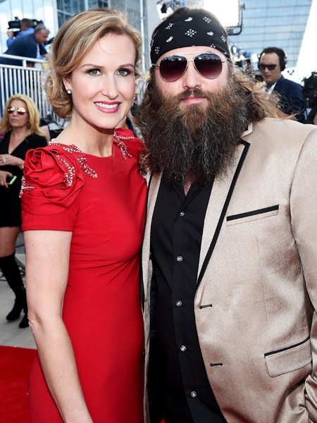 Korie Robertson and Willie Robertson attend the 50th Academy Of Country Music Awards 2015
