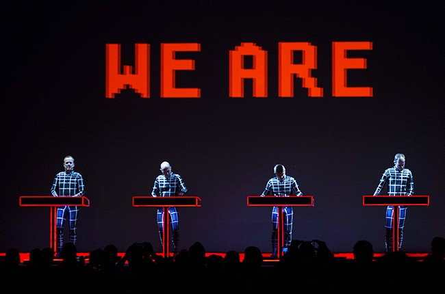 Kraftwerk performs during Moogfest 2014