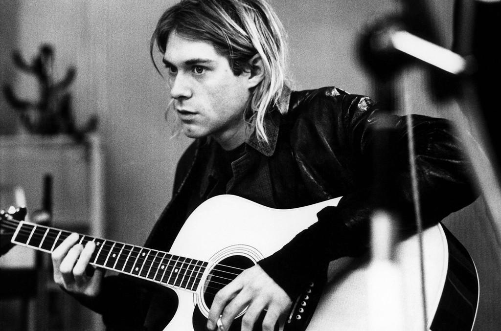 Kurt Cobain photographed in Hilversum Studios.