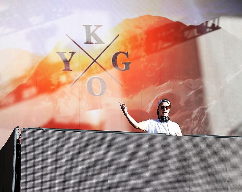 Kygo performing at the Billboard Hot 100 Music Festival