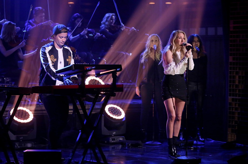 Kygo and Ellie Goulding perform on The Tonight Show Starring Jimmy Fallon
