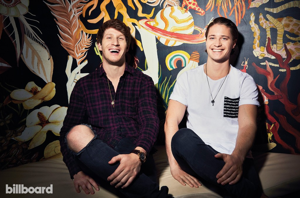 Myles Shear and Kygo photographed on May 18th at Nightingale Plaza in West Hollywood.