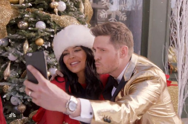 Kylie Jenner in Buble Christmas special