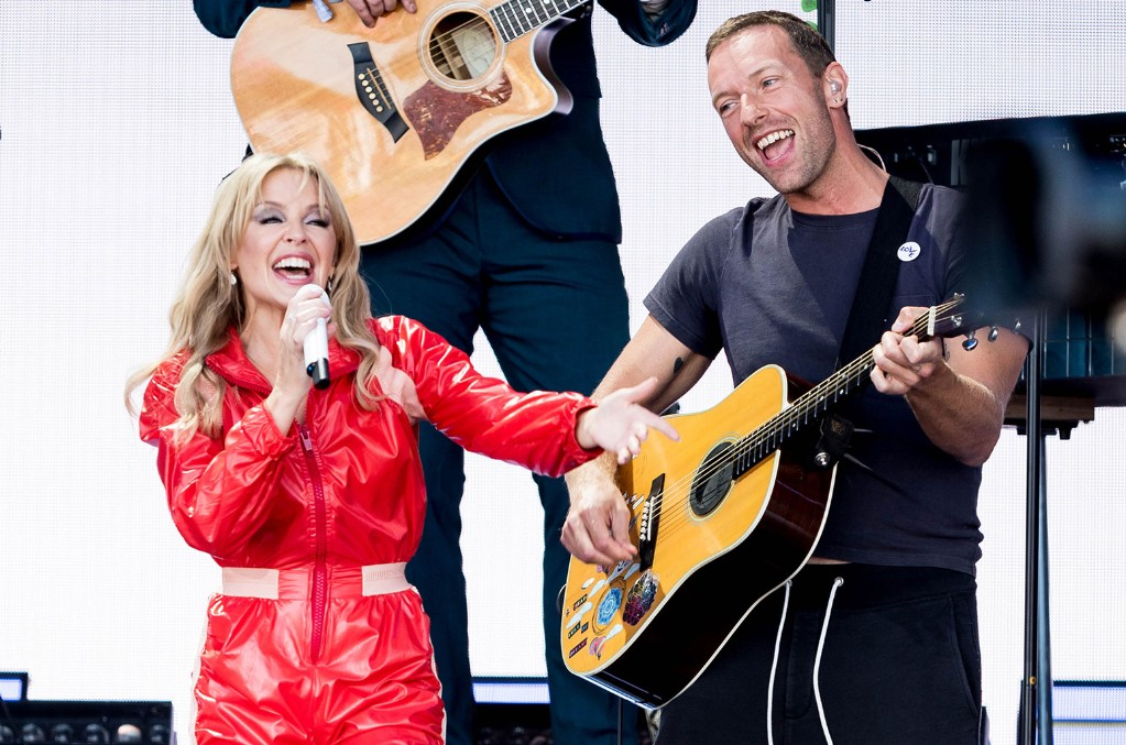 Kylie Minogue and Chris Martin