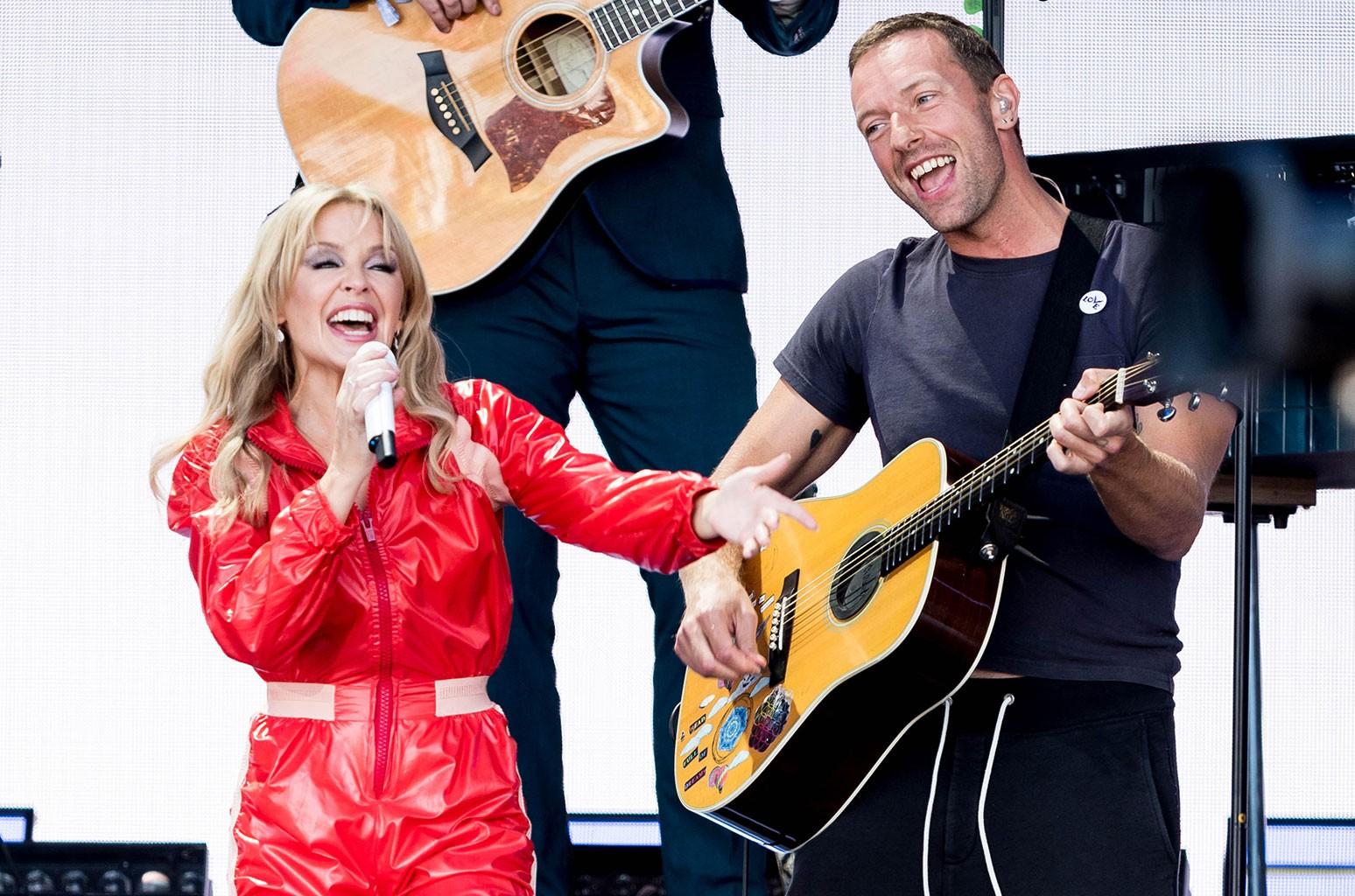 Kylie Minogue and Chris Martin