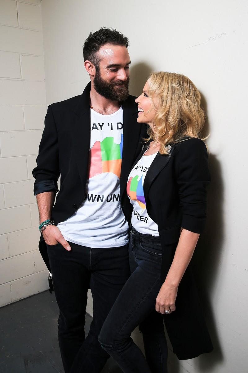 Joshua Sasse & Kylie Minogue, 2016