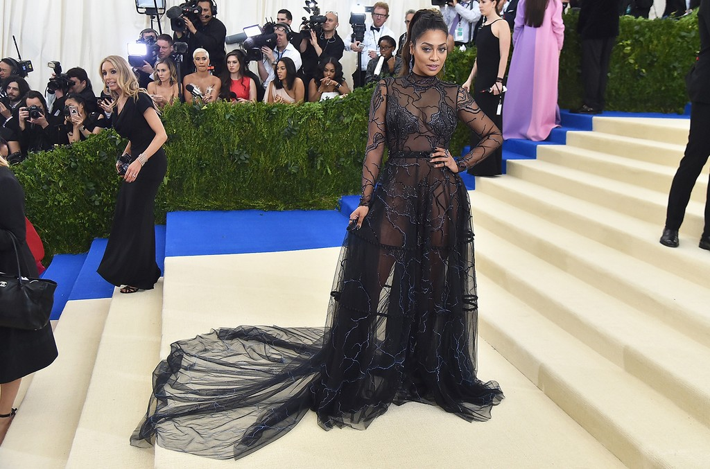 "La La Anthony attends the ""Rei Kawakubo/Comme des Garcons: Art Of The In-Between"" Costume Institute Gala at Metropolitan Museum of Art on May 1, 2017 in New York City."