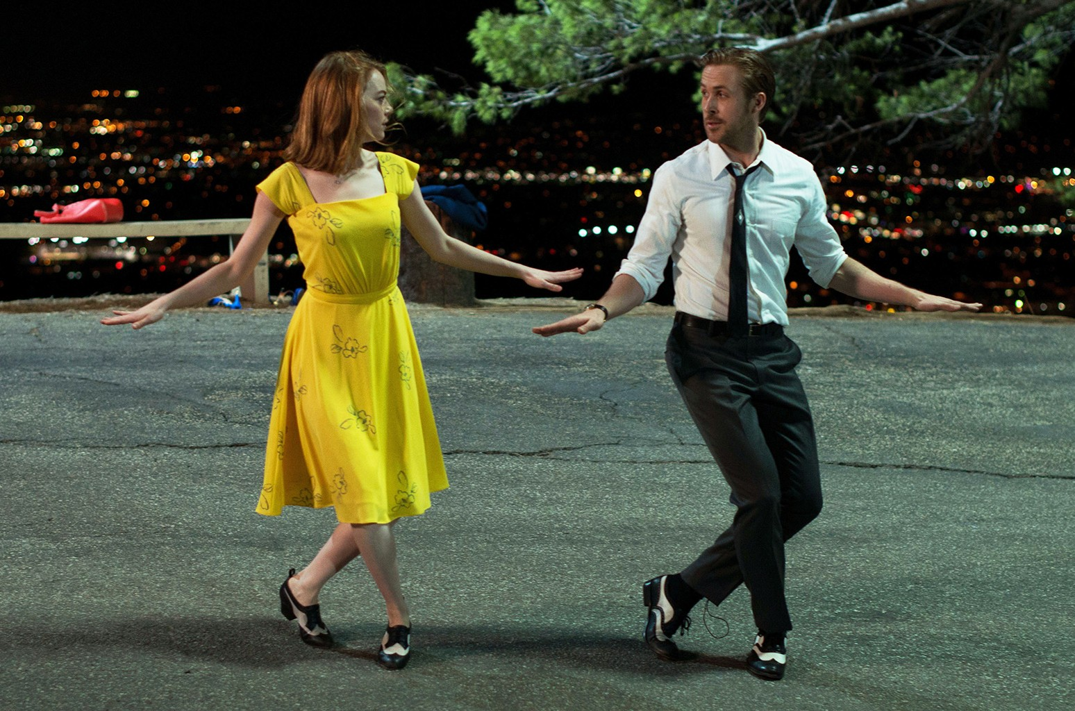 Emma Stone and Ryan Gosling in La La Land.
