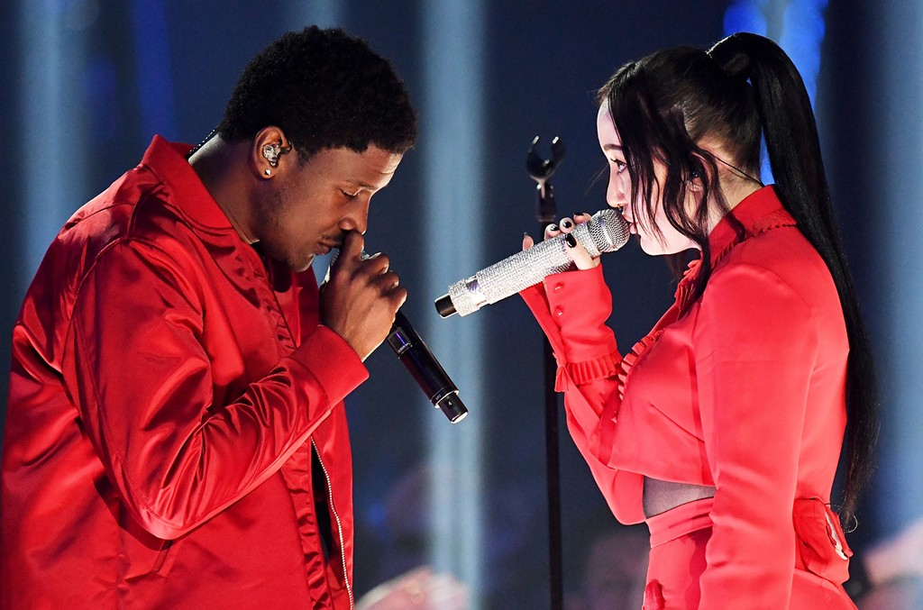 Labrinth and Noah Cyrus perform at the 2017 iHeartRadio Music Awards at The Forum on March 5, 2017 in Inglewood, Calif.