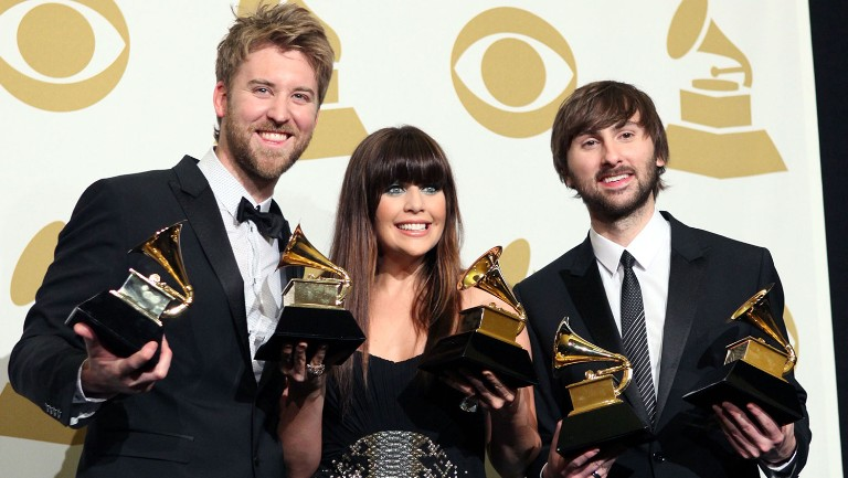 <p>Lady Antebellum pose in the press room at The 53rd Annual Grammy Awards held at Staples Center on Feb.&nbsp&#x3B;13, 2011 in Los Angeles.</p>