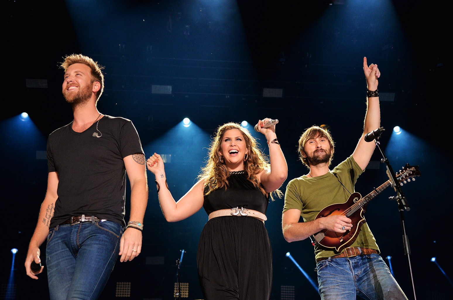 Charles Kelley, Hillary Scott and Dave Haywood of Lady Antebellum perform onstage at the 2014 CMA Festival on June 8, 2014 in Nashville, Tenn.