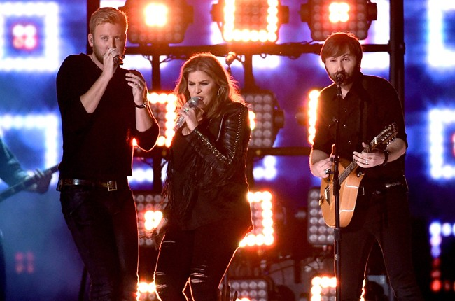 Lady Antebellum perform onstage during the 50th Academy Of Country Music Awards