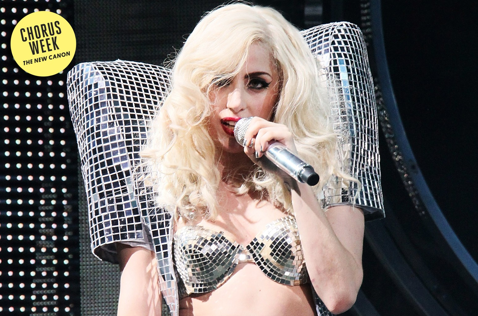 Lady Gaga performs on stage at Nokia Theatre L.A. Live on Dec. 22, 2009 in Los Angeles.