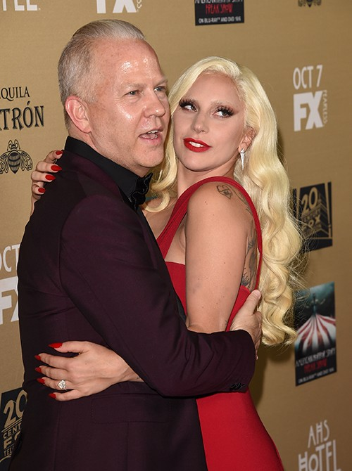 Ryan Murphy and Lady Gaga arrives at the Premiere Screening Of FX's 'American Horror Story: Hotel'
