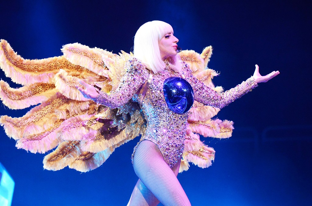 """Lady Gaga performs onstage during her """"artRave: The Artpop Ball"""" at Consol Energy Center on May 8, 2014 in Pittsburgh."""
