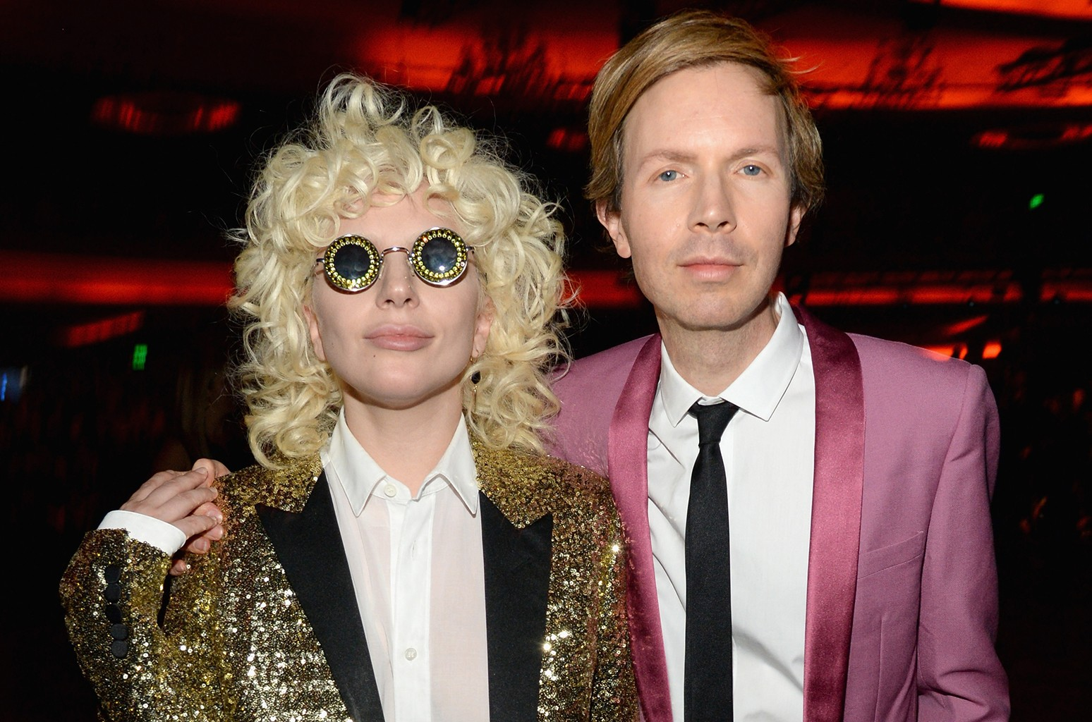Lady Gaga and Beck in 2016