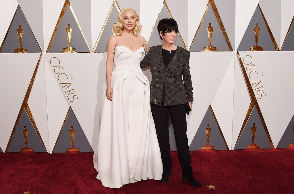 Lady Gaga and Diane Warren attend the 88th Annual Academy Awards