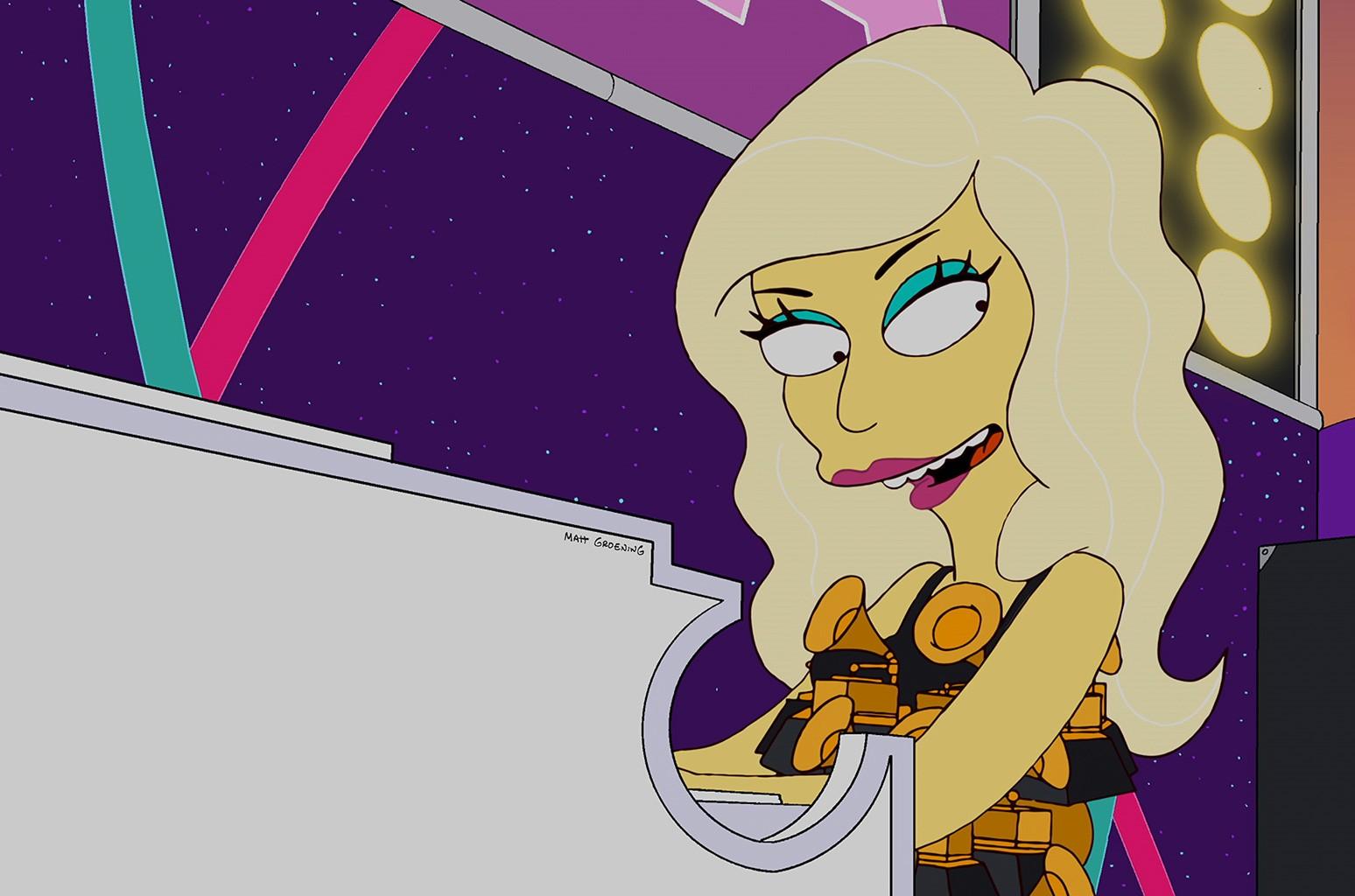 Lady Gaga on 'The Simpsons.'