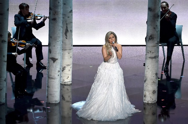 Lady gaga Sound of Music Tribute Oscars 2015