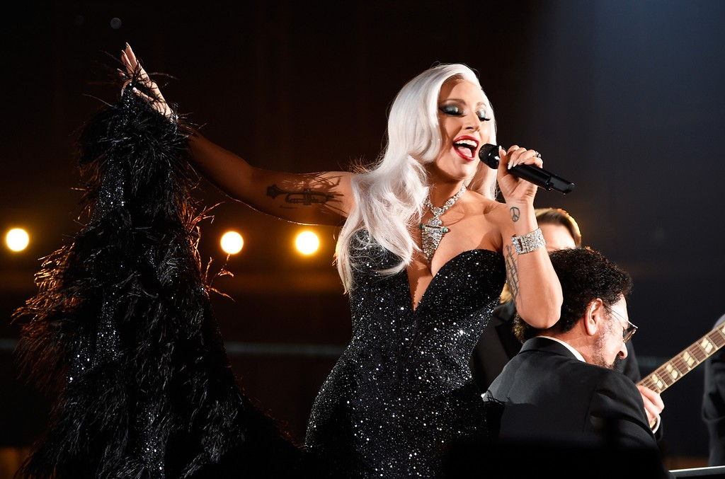 Lady Gaga performs during The 57th Annual Grammy Awards