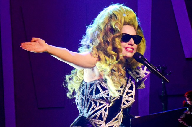 Lady Gaga performs live at Roseland Ballroom on April 7, 2014 in New York City.