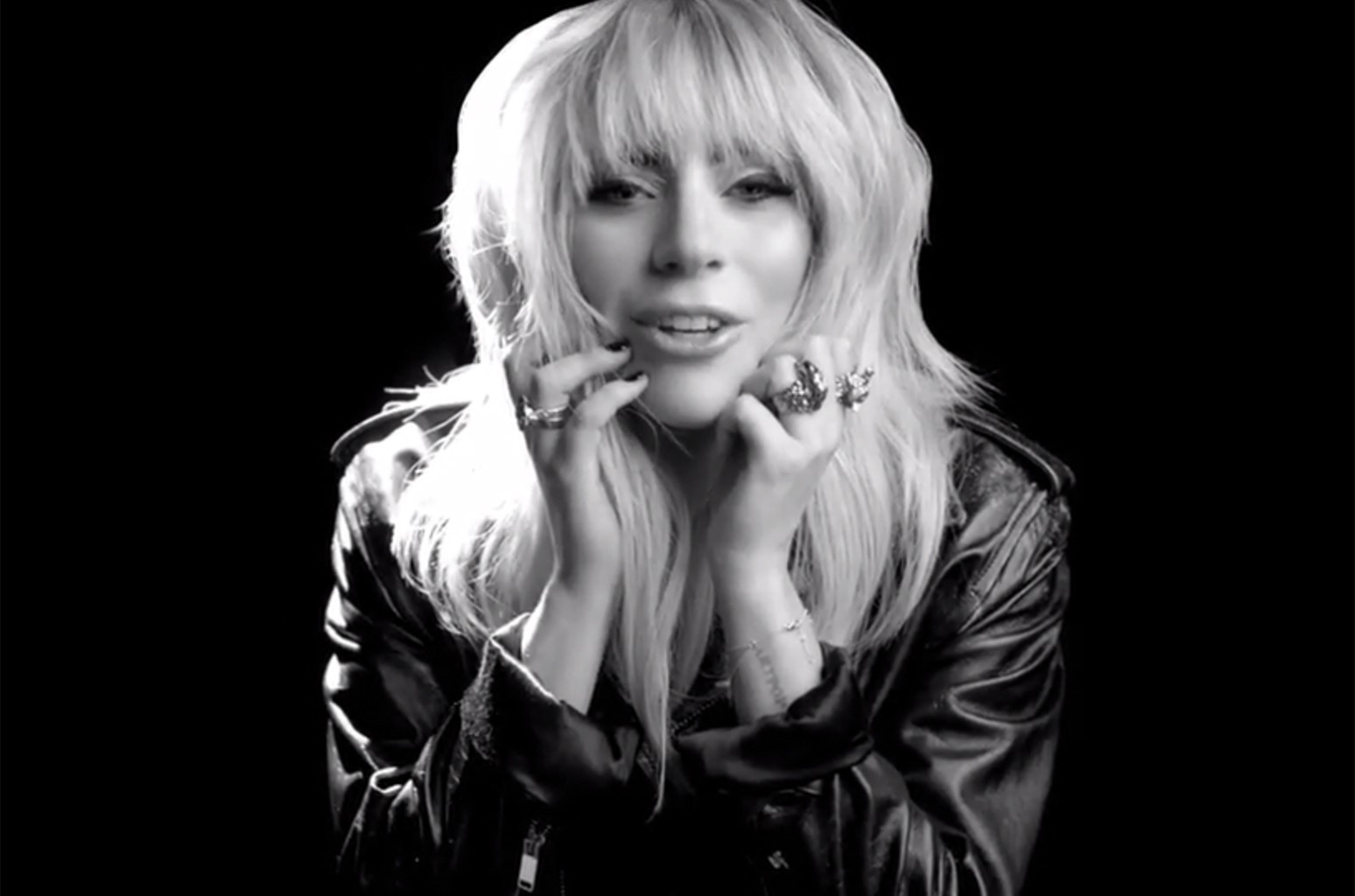 Lady Gaga in an ad for Revlon.