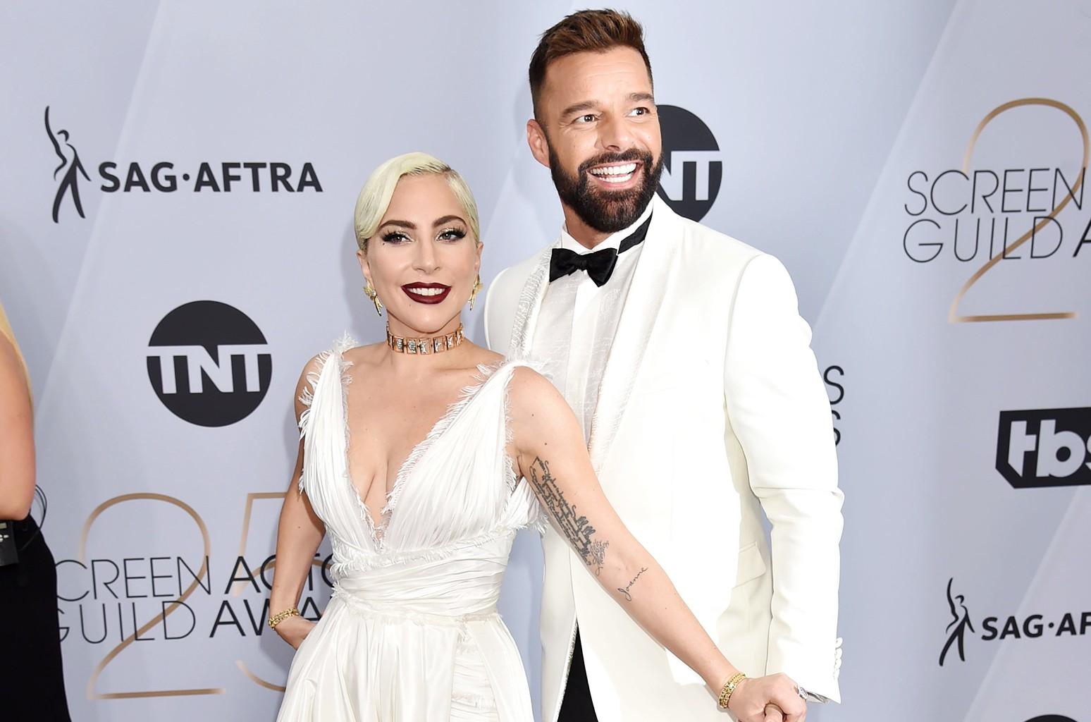 Lady Gaga and Ricky Martin