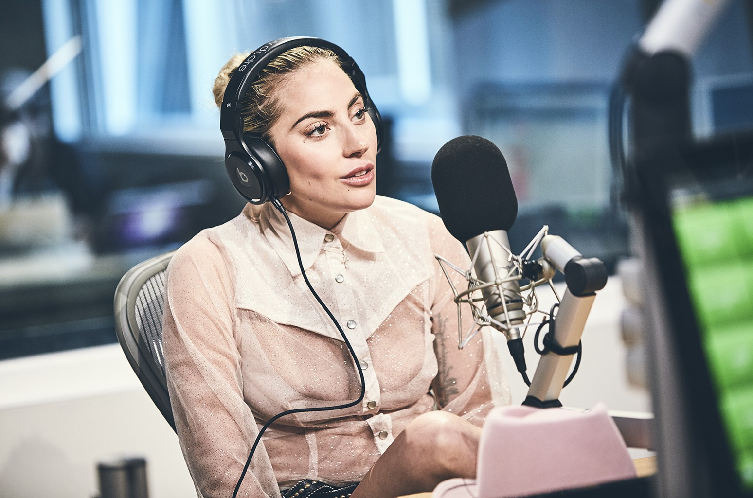 Lady Gaga during an interview with Zane Lowe for Beats 1 Radio.