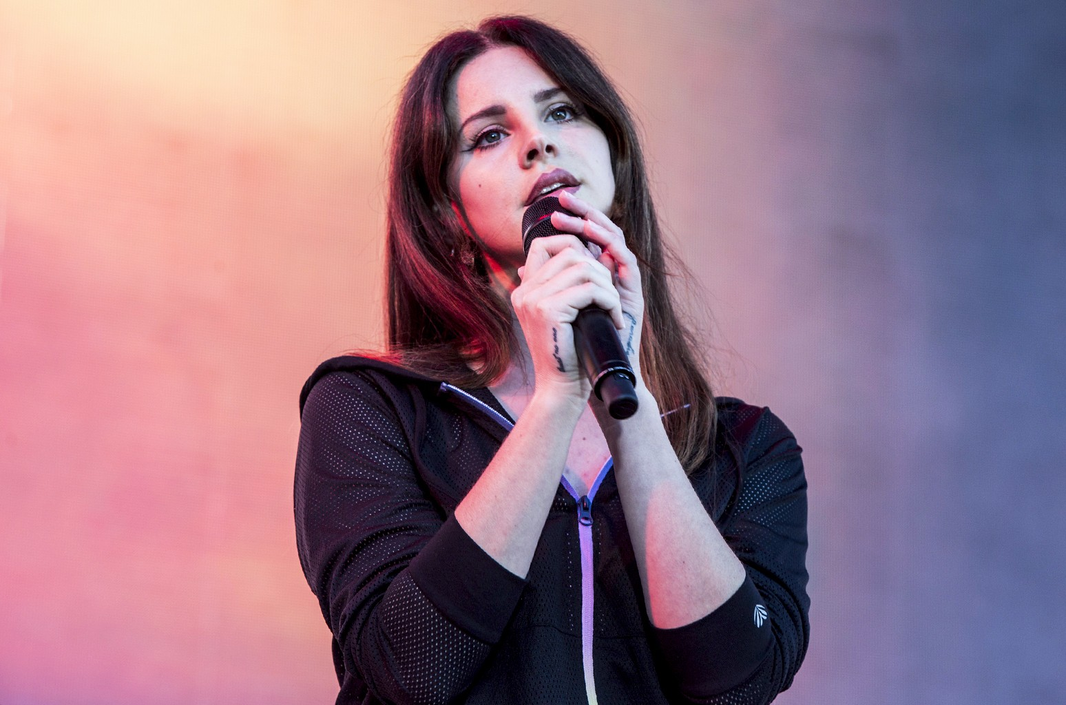 Lana Del Rey performs at the KROQ Weenie Roast 2017 at StubHub Center on May 20, 2017 in Carson, Calif.