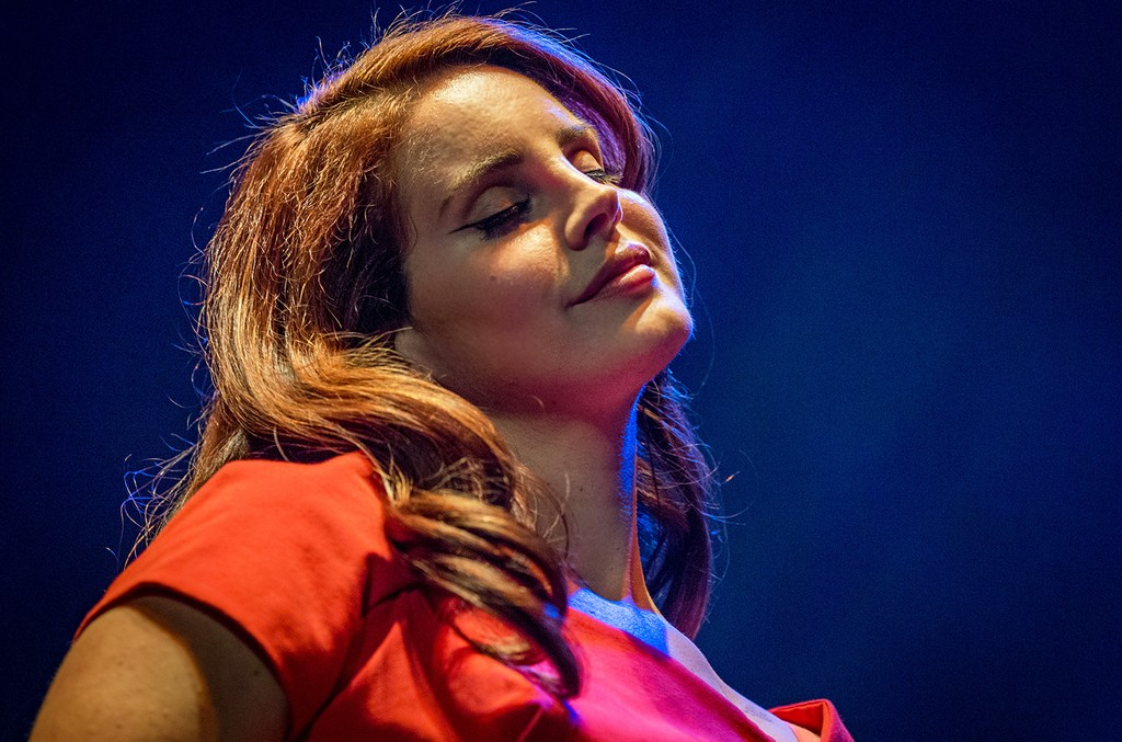 Lana Del Rey at The Wiltern on Feb. 9, 2016 in Los Angeles.