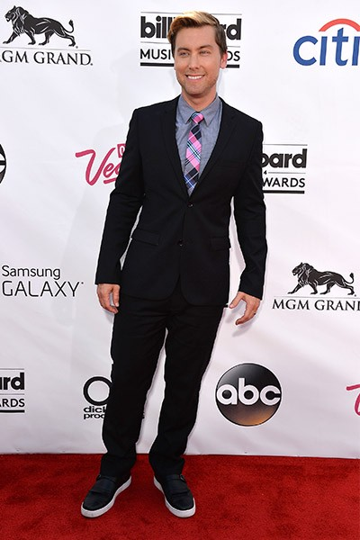 Lance Bass on the red carpet at the 2014 Billboard Music Awards