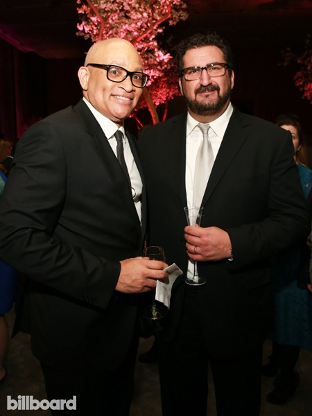 Larry Wilmore and Billboard Editor in Chief Tony Gervino attend The 35 Most Powerful People in Media hosted by The Hollywood Reporter