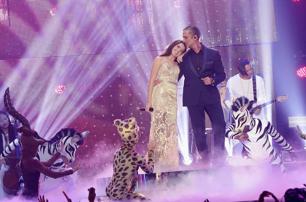 Camila Fernandez and Alejandro Fernandez Billboard Latin Music Awards