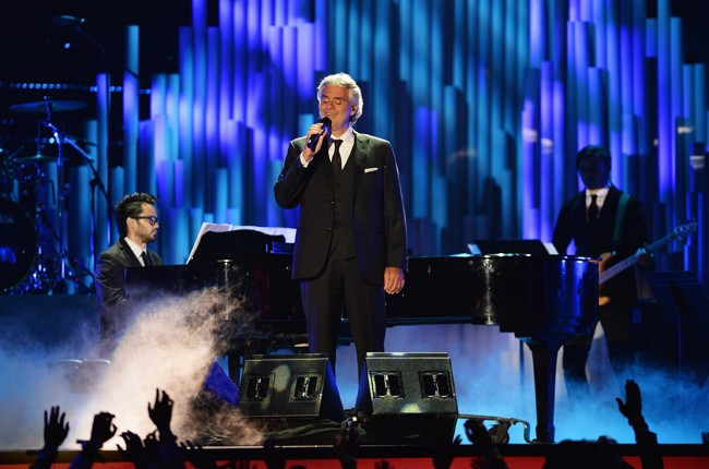 Andrea Bocelli performs onstage during the 2014 Billboard Latin Music Award