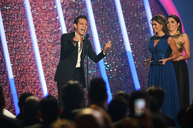 Marc Anthony onstage during the 2014 Billboard Latin Music Awards