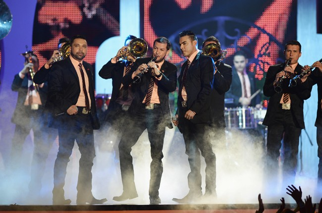 Banda El Recodo de Cruz Lizarraga performs onstage during the 2014 Billboard Latin Music Awards