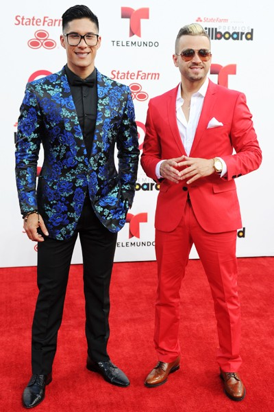 Chino y Nacho attend the 2014 Billboard Latin Music Awards