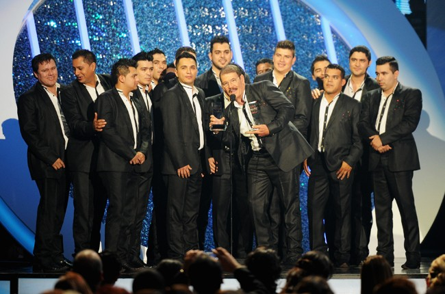 La Arrolladora Banda El Limon onstage during the 2014 Billboard Latin Music Awards
