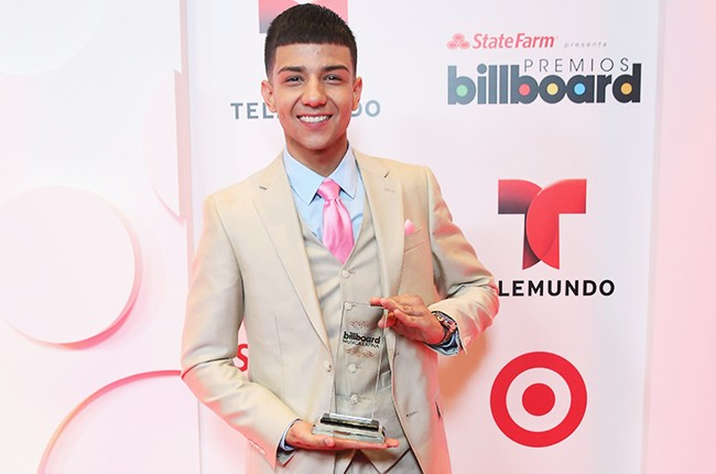 Luis Coronal poses backstage at the 2014 Billboard Latin Music Awards