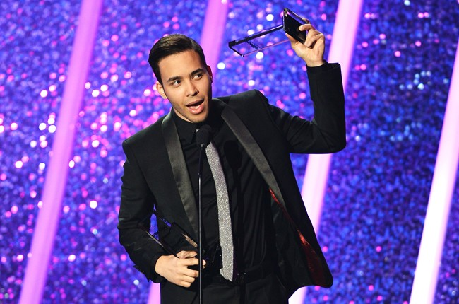 Prince Royce onstage during the 2014 Billboard Latin Music Awards