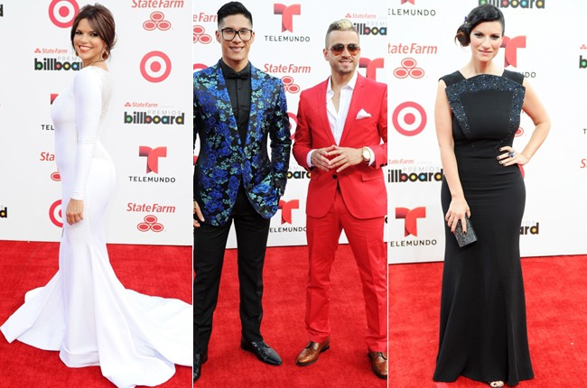 Rashel Diaz, Chino y Nacho, and Laura Pausini at the 2014 Billboard Latin Music Awards