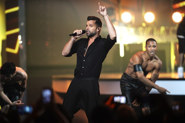 Ricky Martin performs onstage during the 2014 Billboard Latin Music Awards