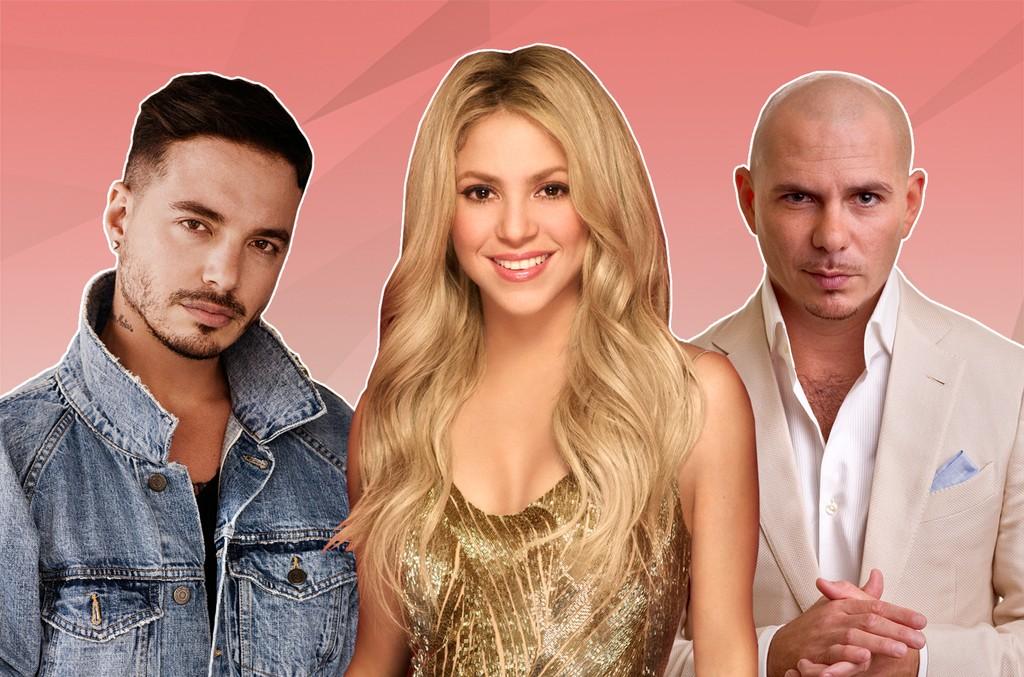 J Balvin, Shakira and Pitbull