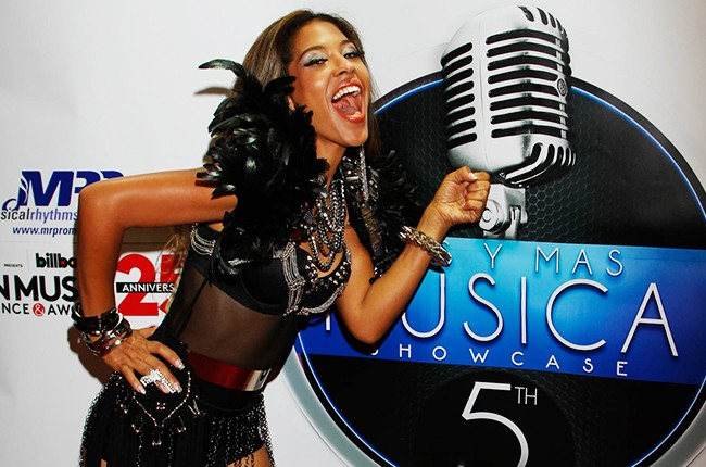 Adassa at the Billboard 2014 Latin Music Conference and Awards
