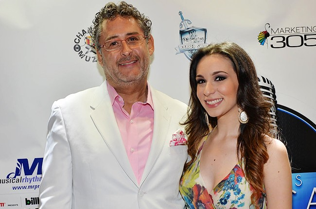 Hector Esquer and Anais Vivas at the Billboard 2014 Latin Music Conference and Awards