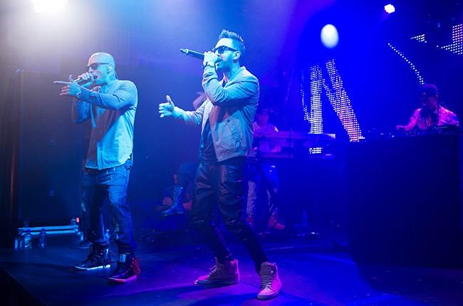 Alexis and Fido perform at the Pandora Discovery Den Noche de Musica Latina