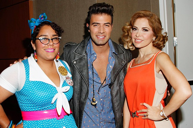 La Marisoul, Jencarlos Canela, gloria Trevi at the Billboard 2014 Latin Music Conference
