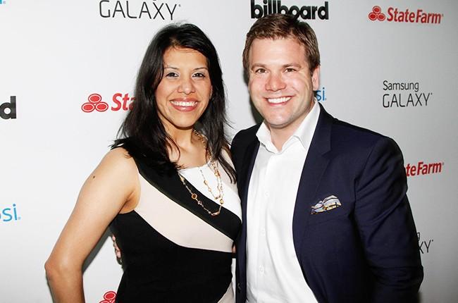 Michelle Mendoza and Michael Foley at the Billboard 2014 Latin Music Conference