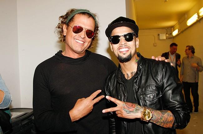 Carlos Vives and David Correy at the Billboard 2014 Latin Music Conference